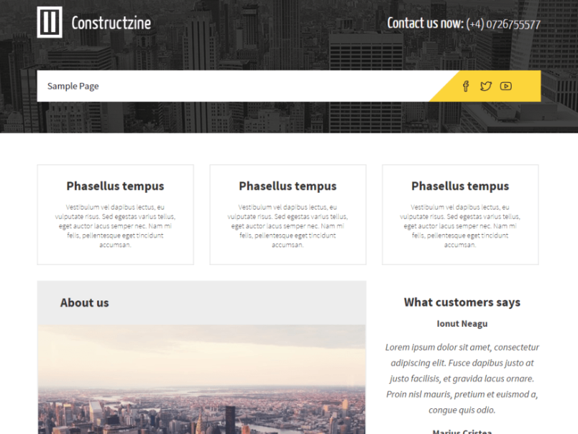 Constructzine-theme-free